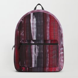 Abstract artwork #30 - Red Ocean waves - Red Sea waves - Red waves - Red Abstract Painting Backpack