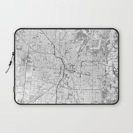 Vintage Map of San Antonio Texas (1953) BW Laptop Sleeve
