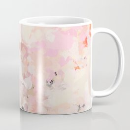 Abstract in Ivory Orange and Pink Coffee Mug