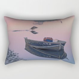 Two boats one seagull Rectangular Pillow