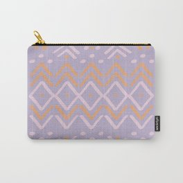 Lilac +  Sorbet Mudcloth Carry-All Pouch