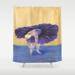 Purple Ballerina Shower Curtain