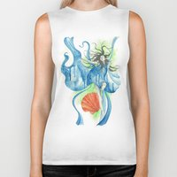 zodiac Biker Tanks featuring Zodiac - Aquarius by Simona Borstnar