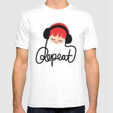 REPEAT I Mens Fitted Tee MEDIUM White