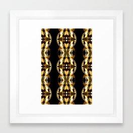 DIGI TRIBE YELLOW Framed Art Print