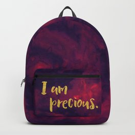 Faux gold glitter inspirational quote on purple watercolor Backpack