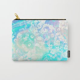 Floral Dream Pastel Hologram Carry-All Pouch