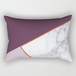 MARBLE PLUM PURPLE LAVENDER COPPER GEOMETRIC Rectangular Pillow