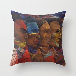 Night Dancers Throw Pillow