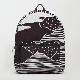 Mountain Peaks Digital Art Backpack