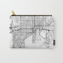 Tampa Map White Carry-All Pouch