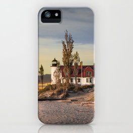Point Betsie Lighthouse at Sunset iPhone Case