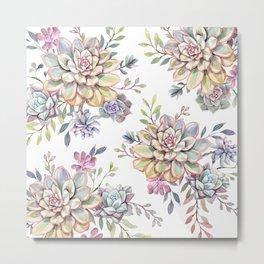 succulent watercolor 10 Metal Print