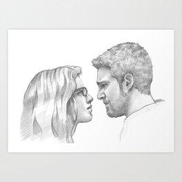 Oliver Queen and Felicity Smoak Art Print