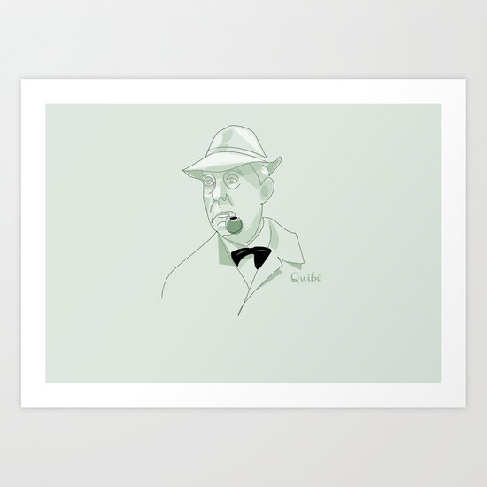 portrait: Jacques Tati Art Print