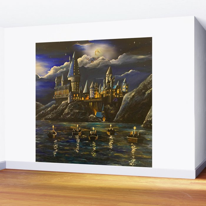 Castel at Starry night Wall Mural