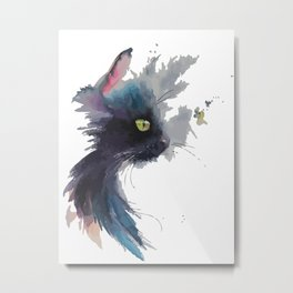 A cat profile Metal Print