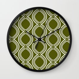 Hatchees (Olive Green) Wall Clock