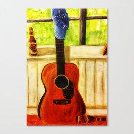 Tex's Guitar Canvas Print