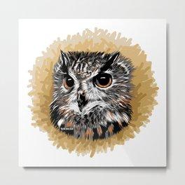 Owl - Búho Metal Print