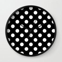 Black and Polka White Dots Wall Clock