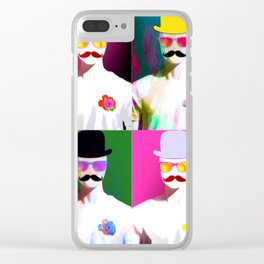 Cool Men Clear iPhone Case