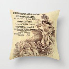 Expo Commerce Paris 1893 Throw Pillow