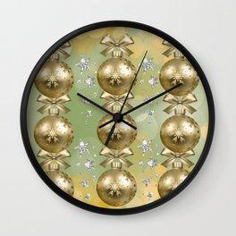 The Joy of Christmas - Gold Wall Clock