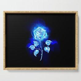 Burning Blue Rose Serving Tray