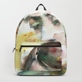 VIRGINIA WOOLF - watercolor portrait.3 Backpack