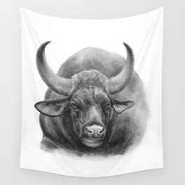 Indian Bison by Magda Opoka Wall Tapestry