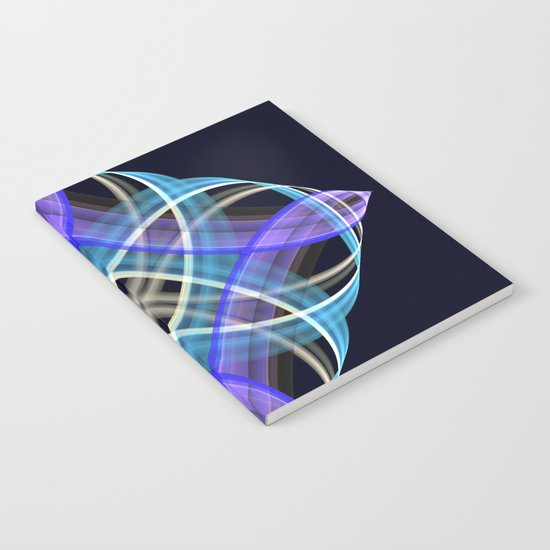Four points geometric pattern design Notebook