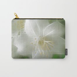 White Shiny Jasmine Carry-All Pouch