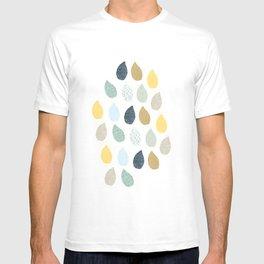 rain drops pattern T-shirt