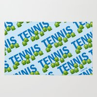 tennis Area & Throw Rugs featuring Tennis by joanfriends