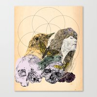 sacred geometry Canvas Prints featuring Sacred by Ashley Payne