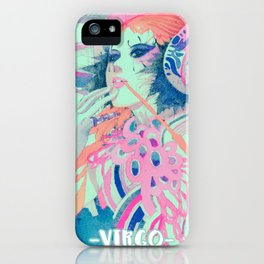 Virgo-digital mix iPhone Case