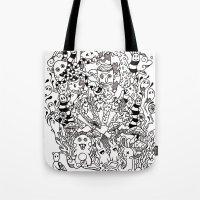 lsd Tote Bags featuring LSD by octavio ramirez