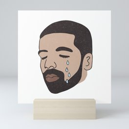drake-crying Mini Art Print