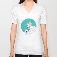 vikings V-neck T-shirts featuring Ragnar Lothbrok / Vikings by Lucía Primo