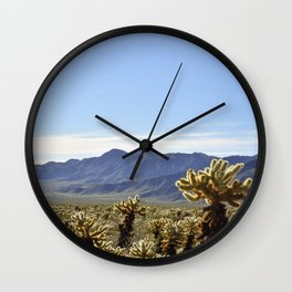 Cholla Cactus Garden Wall Clock
