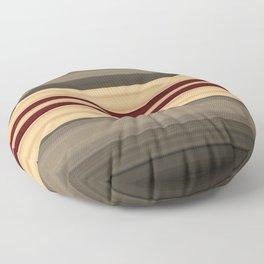 Rich Gold Burgundy Stripes Floor Pillow
