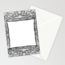 Frame with ornament Stationery Cards