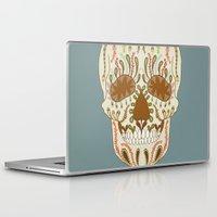 calavera Laptop & iPad Skins featuring CALAVERA by Nora