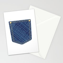 Plain Denim Pocket Stationery Cards