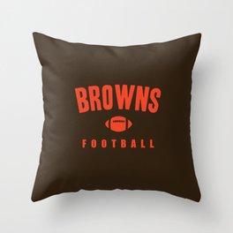 Browns Football Throw Pillow