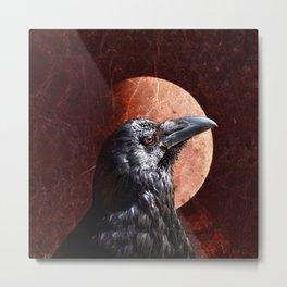 Crow Moon II Metal Print
