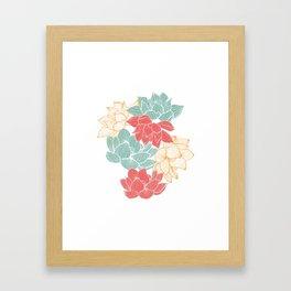 Lotus Carousal Framed Art Print