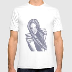 Sapphire Woman MEDIUM White Mens Fitted Tee
