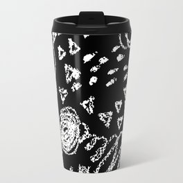 Abstract Chalk on black Travel Mug
